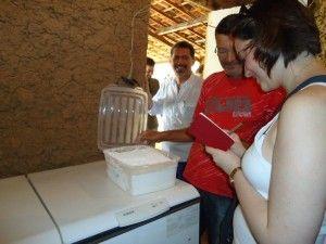 Cíntia Costa em Amargosa, aprendendo receitas de festa junina