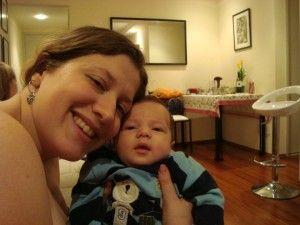 Arthurzinho e Ju no Amigo Secreto do JOD 2010