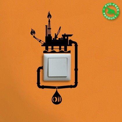 Adesivo de parede para interruptor sobre gasto de energia