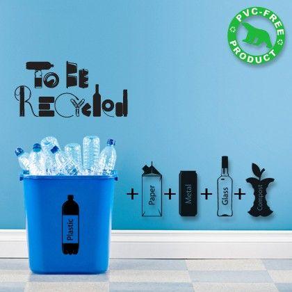 Adesivo de parede sobre reciclagem