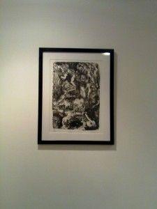 A litografia do Chungtar, que se chama Contraponto de imágenes