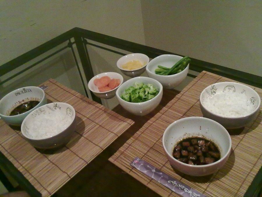 Comida japonesa sem peixe