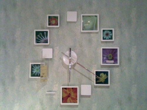 Relógio de parede de porta-retratos. Da Etna.
