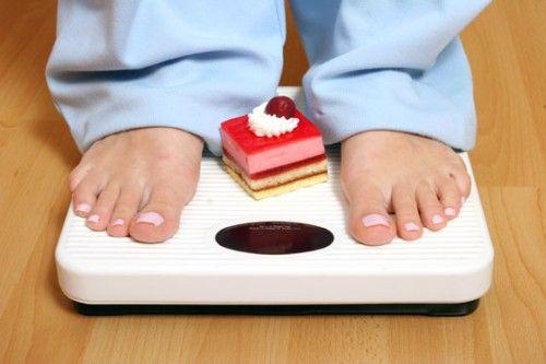 Peso de um doce na balança