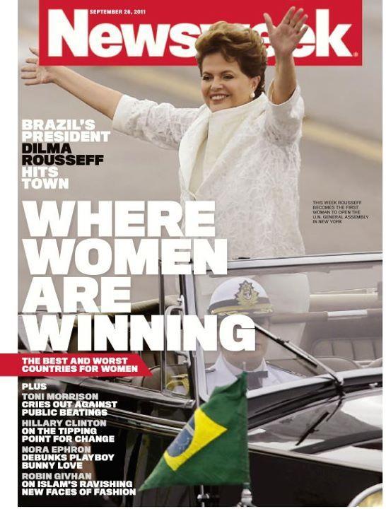 Dilma Rousseef, presidenta do Brasil, na capa da Newsweek, em setembro de 2011