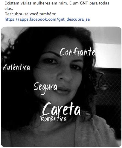 Aplicativo para Facebook GNT Decubra-se