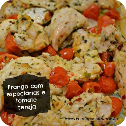Receita de micro-ondas: frango com especiarias. Foto: Cíntia Costa.