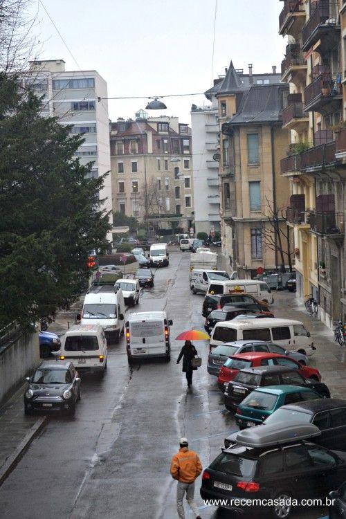 Rua em Genebra. Foto: Cíntia Costa.