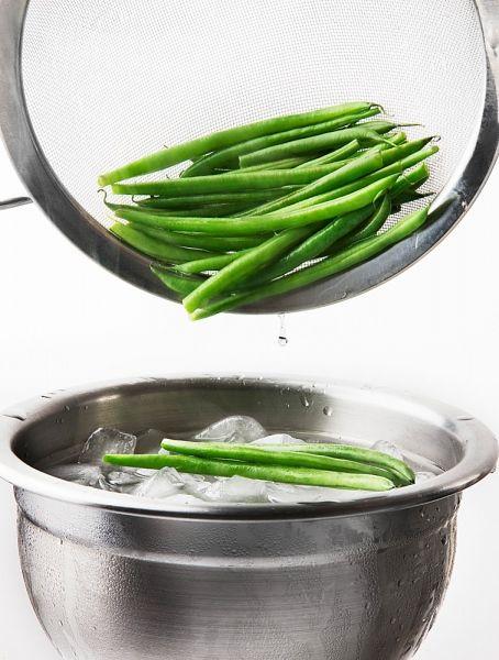 Vagem cozida na água com gelo. Foto: Inmagine.