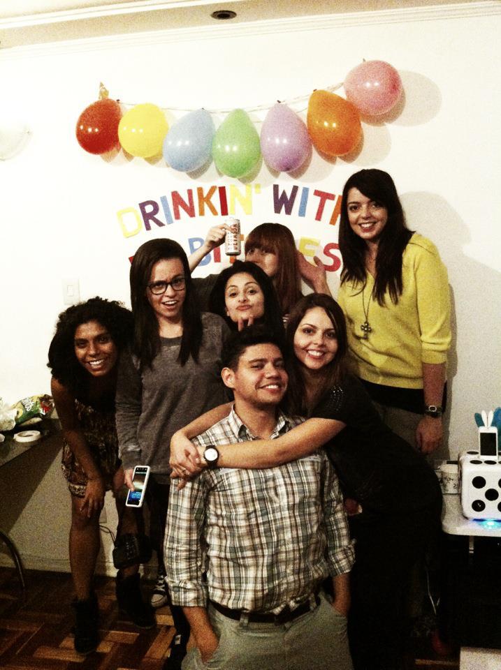 Decoração de festa de aniversário em casa.