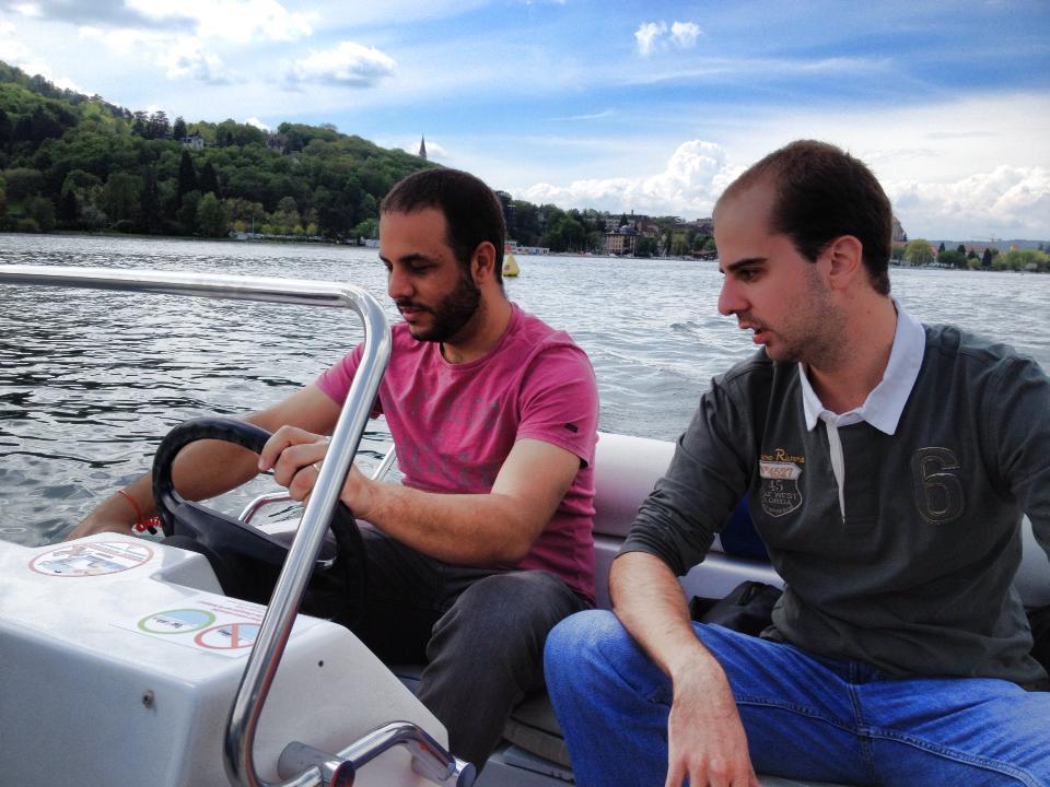 Caue e Marcelo em Annecy