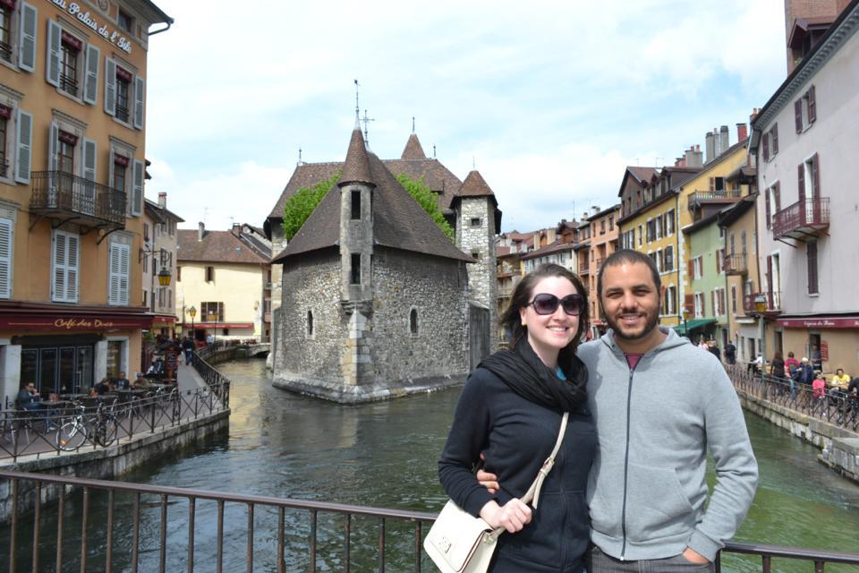 Cintia e Caue em Annecy