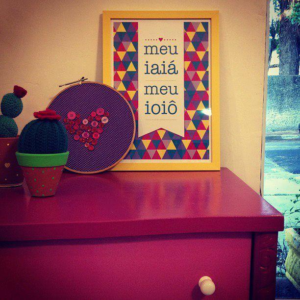 Quadro romântico: Meu iaiá meu ioiô. The Cake is on The Table.