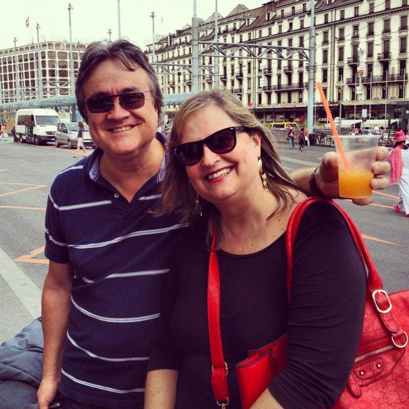 Meus pais em Genebra