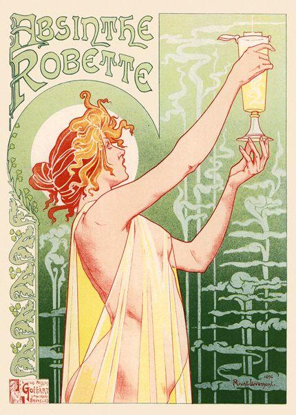 Absinthe Robette - poster vintage Absinto.