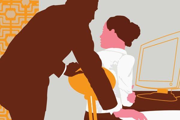 Ilustração de assédio sexual. Crédito: Inmagine.