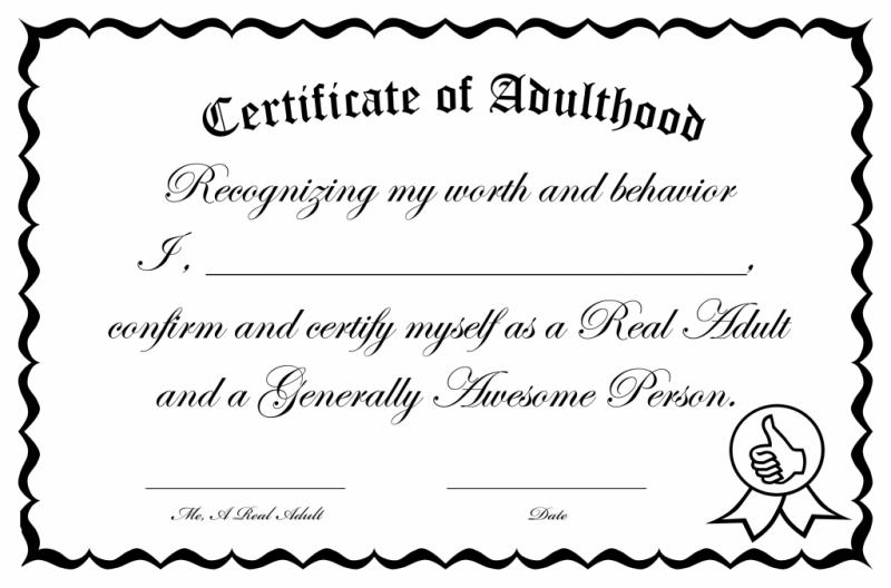 Certificado de gente grande