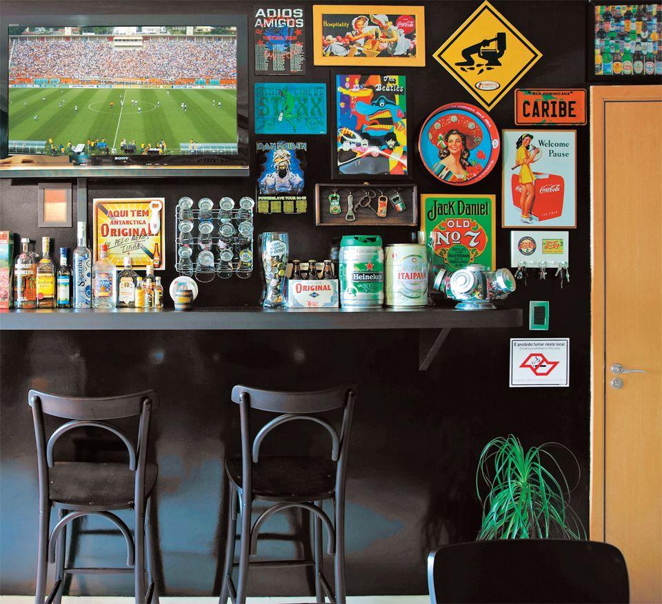 Decoração: bar em casa com estilo boteco.