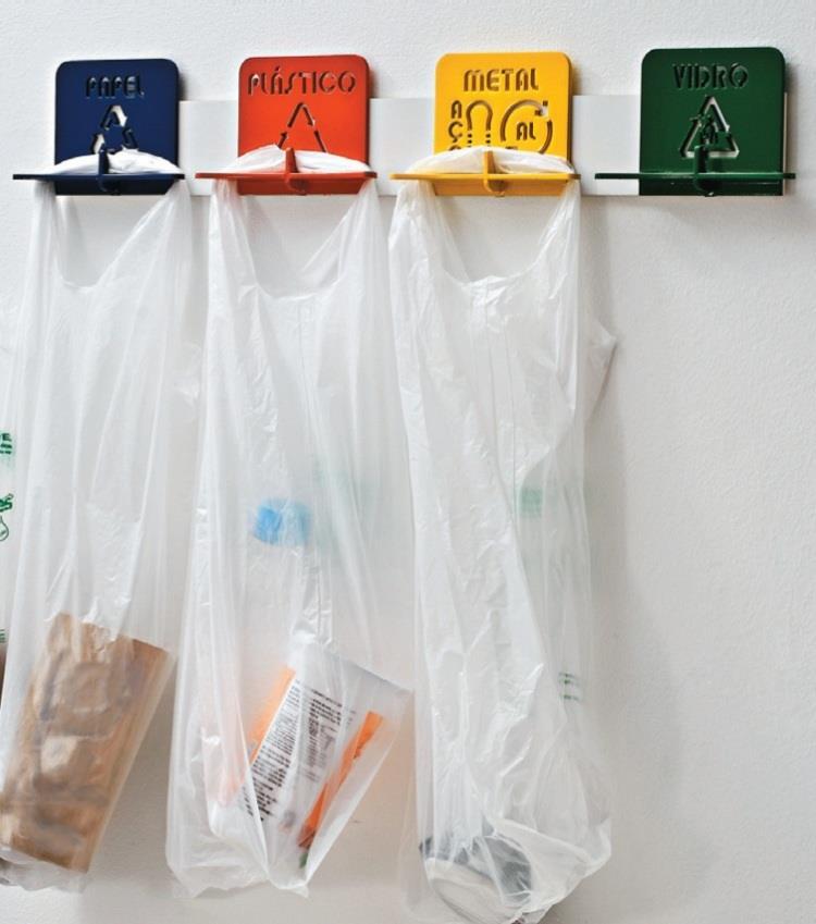 Lixinhos de pia para reciclagem