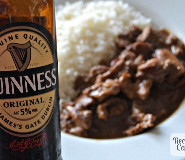 Receita de carne ao molho de cerveja preta