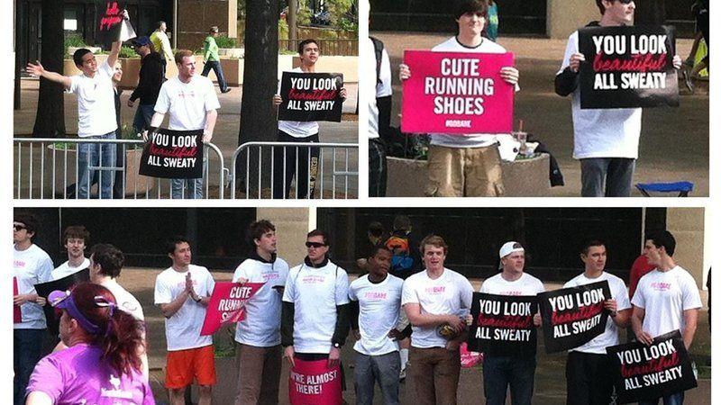 Cantada de rua e assédio em campanha da Bare Minerals numa maratona feminina da Nike em Nova York.