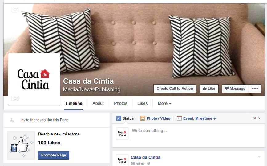 Blog da Casa da Cíntia no Facebook.