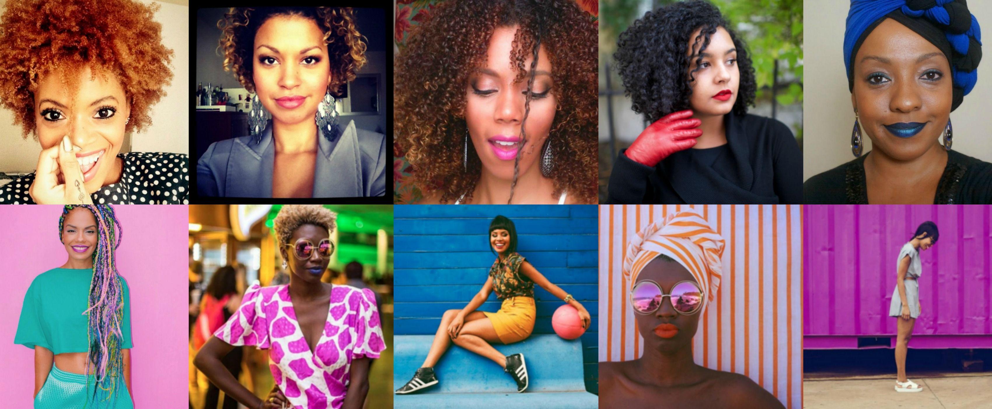 Blogueiras negras de beleza e moda.
