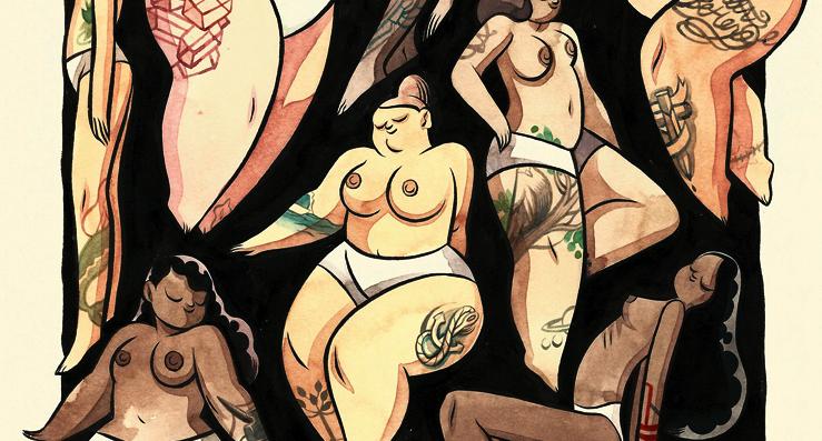 Amar o corpo, dentro ou fora dos padrões de beleza. Ilustração: Kelly Bastow