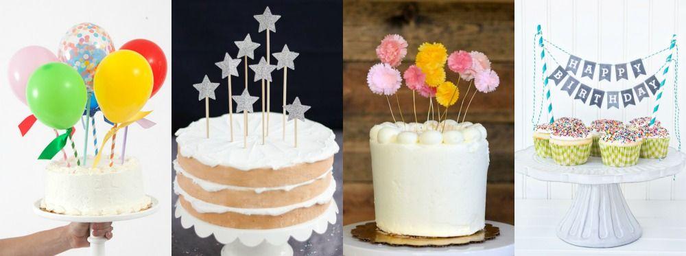 Tutoriais e download de topos de bolo DIY para fazer em casa.