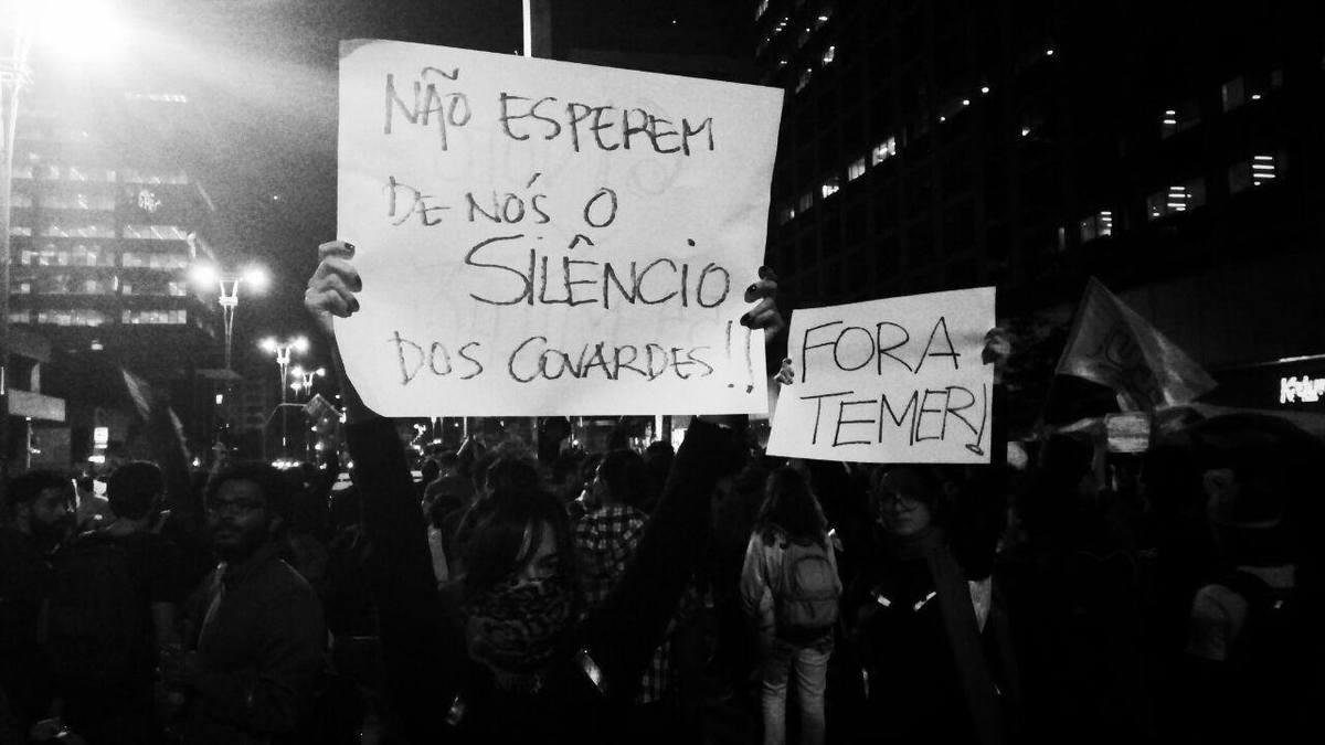 Manifestação Fora Temer em 31 de agosto de 2016 em São Paulo (Av. Paulista e Consolação). Foto: Nunah Alle.