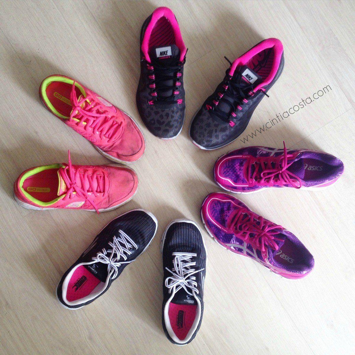 O tênis certo para corrida e caminhada feminino. Foto: Cíntia Costa.
