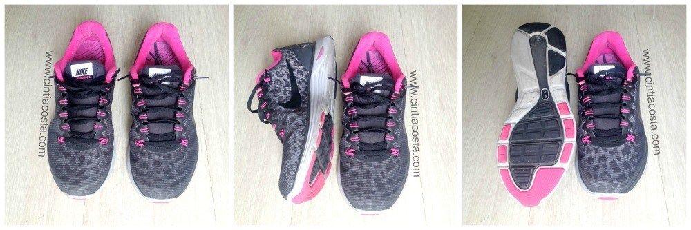 O tênis para corrida mais bonito: Nike Lunarglide 5 com animal print. Foto: Cíntia Costa.