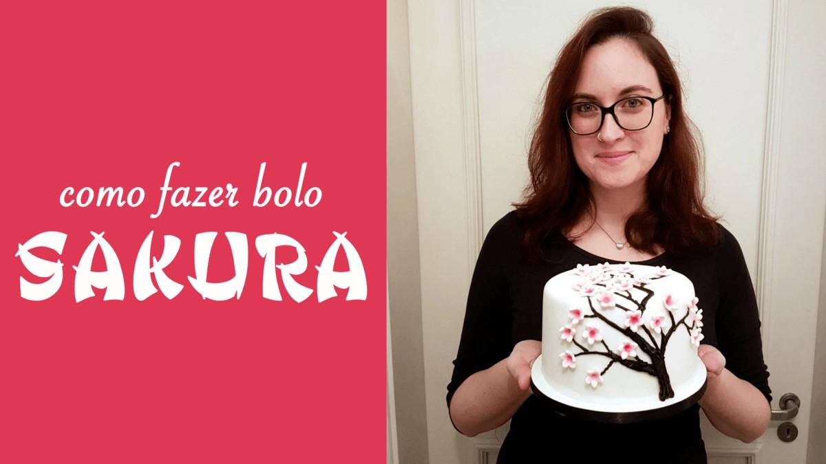 Como fazer Bolo Sakura (do aniversário da Joyce Kitamura)