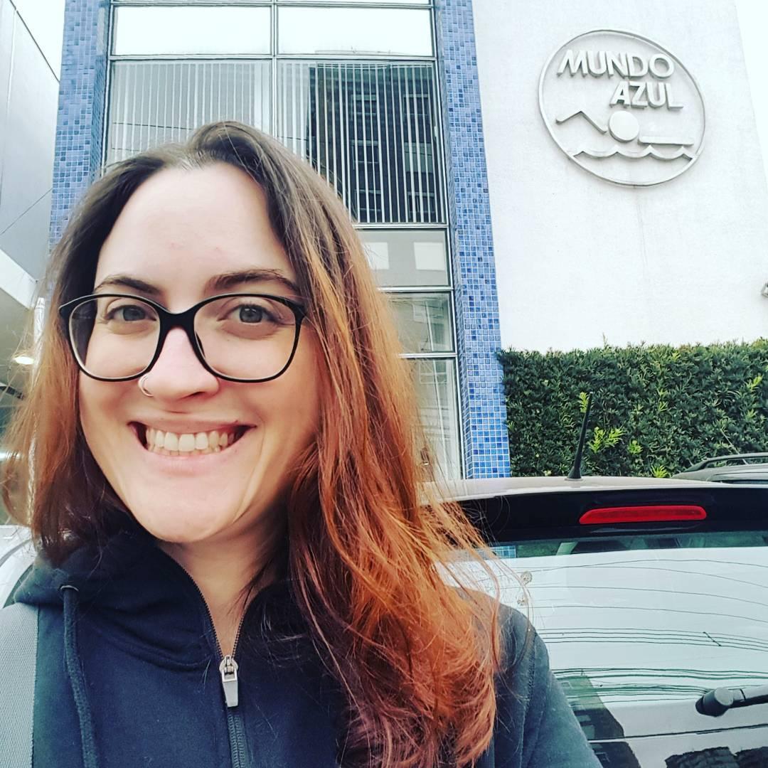 Mundo Azul - escola natação em Pinheiros, São Paulo. Blogueira fitness Cíntia Costa.
