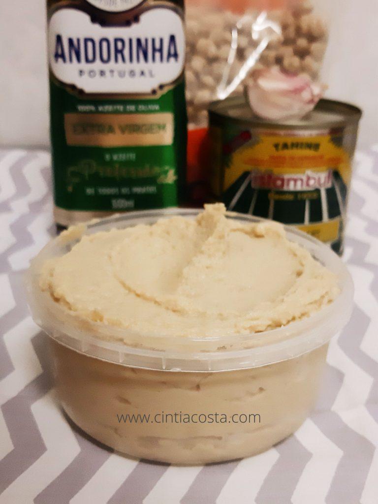 Receita de homus (pasta de grão-de-bico com tahine)
