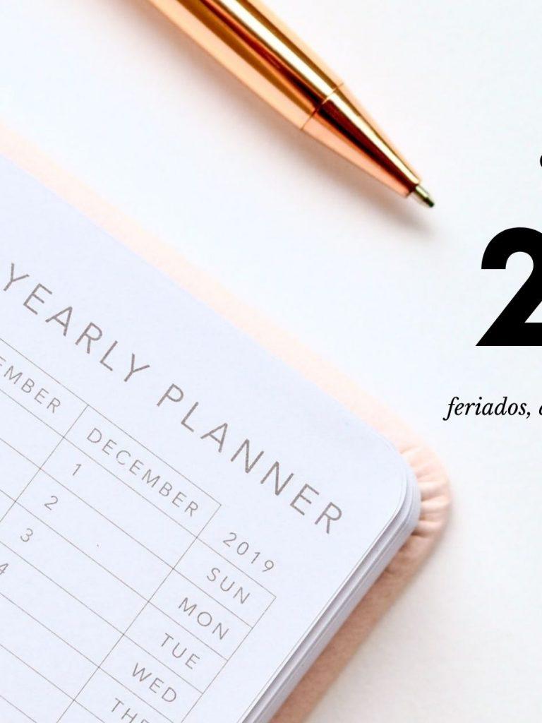Calendário 2021: datas comemorativas, feriados e eventos